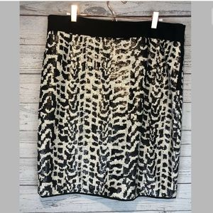 The limited skirt size 14 animal print sequins